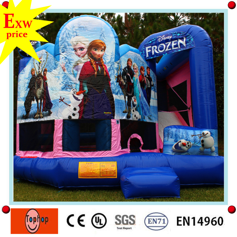 game kids frozen inflatable bouncy castle made in China factory FOR SALE