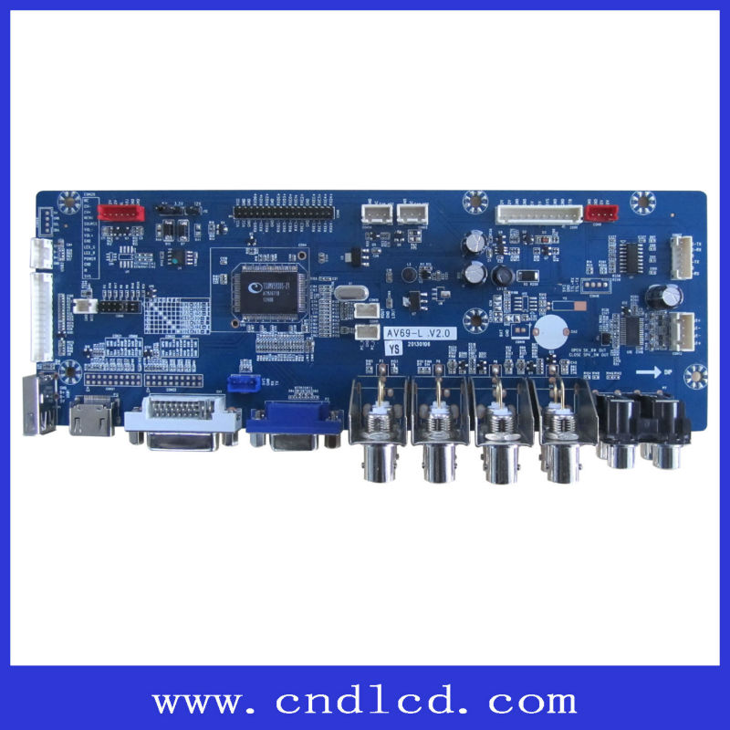 LCD Monitor Control Board With BNC Amplifer ,Power With Mstar IC