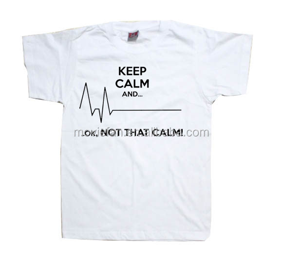 Keep Calm and... Ok, not That Calm funny heart rate EKG Paramedic Tee shirt top unisex Mens Womens unisex