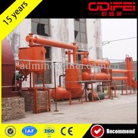 waste tires oil refining machine waste tyre/plastic/rubber pyrolysis plant scrap plastic pyrolysis plant to fuel oil