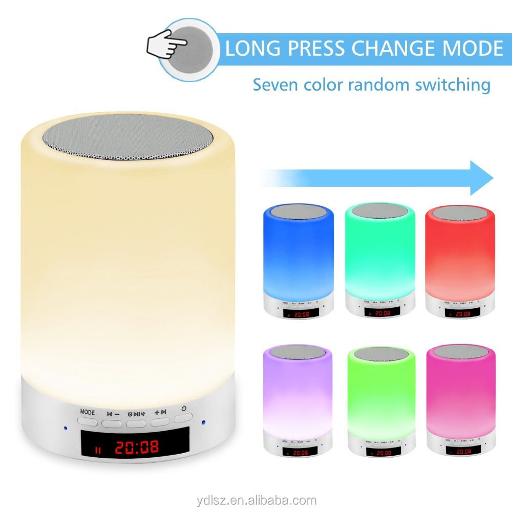 Hottest Touch Control Bedside Atmosphere Lamp Wake Up Light Alarm Clock Sunrise
