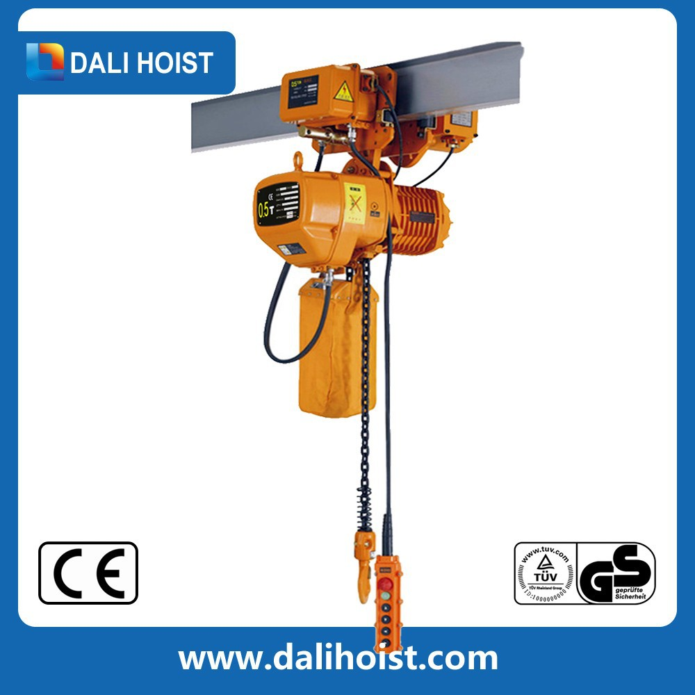 1ton electric chain hoist for low space lifting