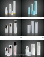 Hot sale beautiful cosmetic packaging glass airless serum pump bottles