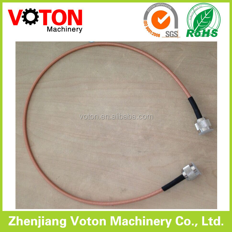 telecom feeder jumper cable with n male connector RG142