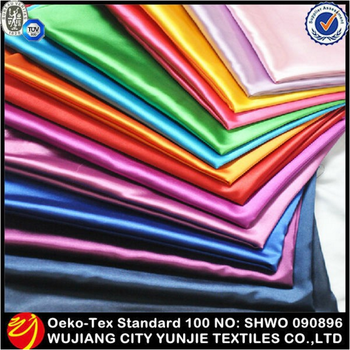 Soft and colorful plain dyed double-face satin fabric