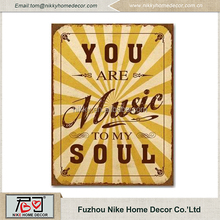 Metal sign/metal plaque for home wall decoration from china supplier 26*35cm