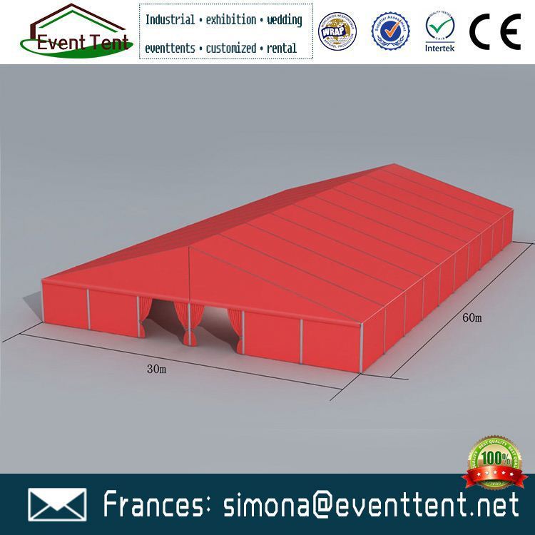 Good quality 15x30m aluminum tent pvc pipe tent frame sale in Guangzhou Tent Factory