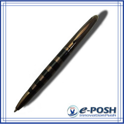 Chocolate brown style parker gel black color ink refill metal ballpoint pen