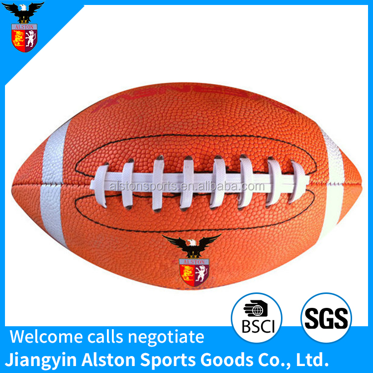 Full size machine stitched promotional quality rugby ball