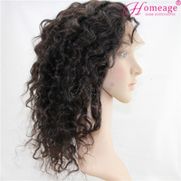 Homeage top selling products in alibaba brazilian curly human hair full lace wigs for black women