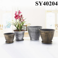 Large garden painting plastic flower pot wholesale