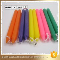 decorative scented pillar color glowing candles