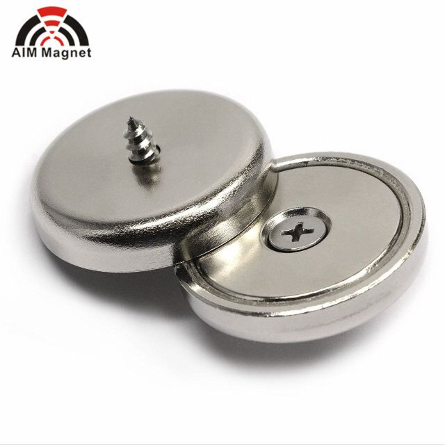 Strong Neodymium magnetic Pot magnets Cup magnet With Countersunk Screw Hole