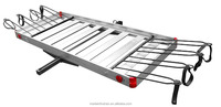 60'' Folding hitch mounted cargo luggage carrier with bike rack for 2'' Receivers