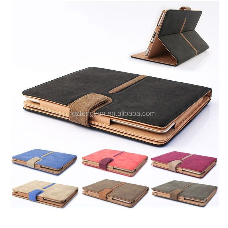 luxury wallet flip pu leather case for ipad air 2