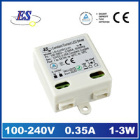 3W 12V 350mA AC TO DC Constant Current LED Driver Power Supply with CE UL cUL