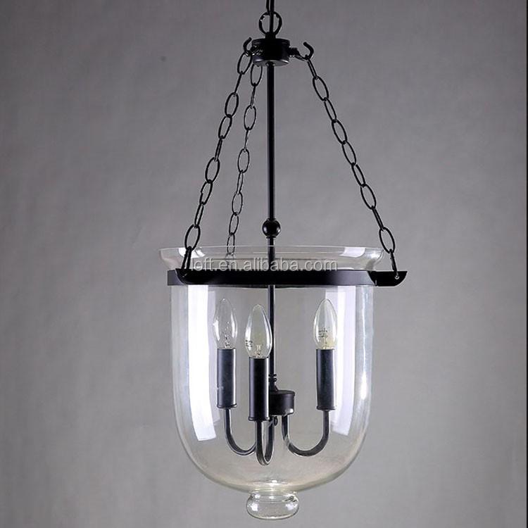 Vintage cubo de cristal transparente en forma de lamparas - Lamparas para cafeteria ...