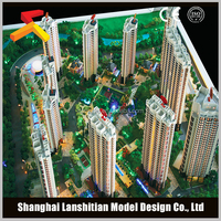 sell architectural building plan with high rise building model