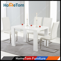 Wholesale Wooden High Gloss White Modern Dining Table