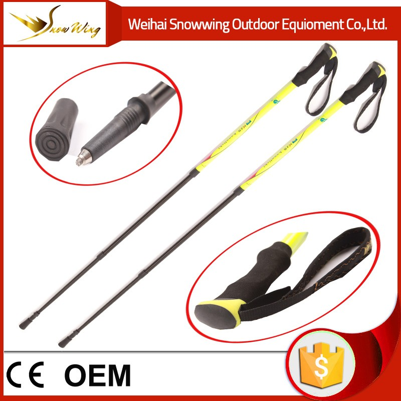 oem carbon pole telescopic walking stick walking brass walking stick handles