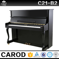 88 keys roll up piano hammer black upright piano