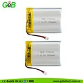 GEB703040 Rechargeable 3.7v li-ion polymer battery 750mah