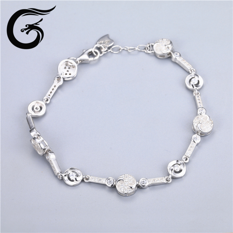 925 sterling silver fashion jewellery bracelet