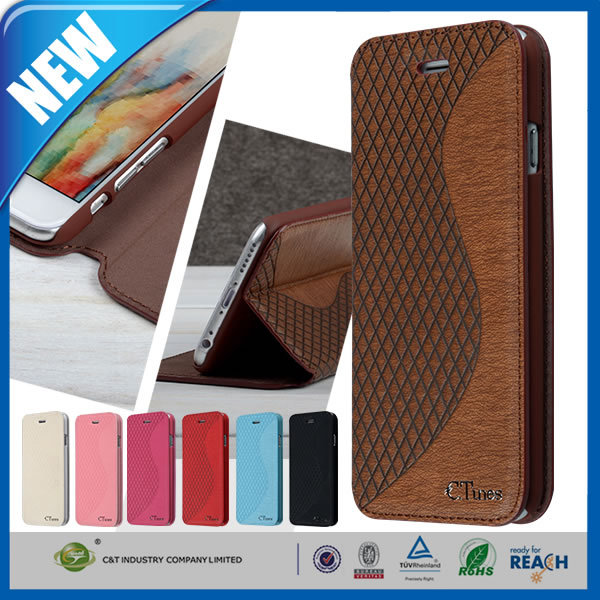 C&T Unique Phone Wallet Case for Samsung Galaxy J2 Custom Flip Leather Case