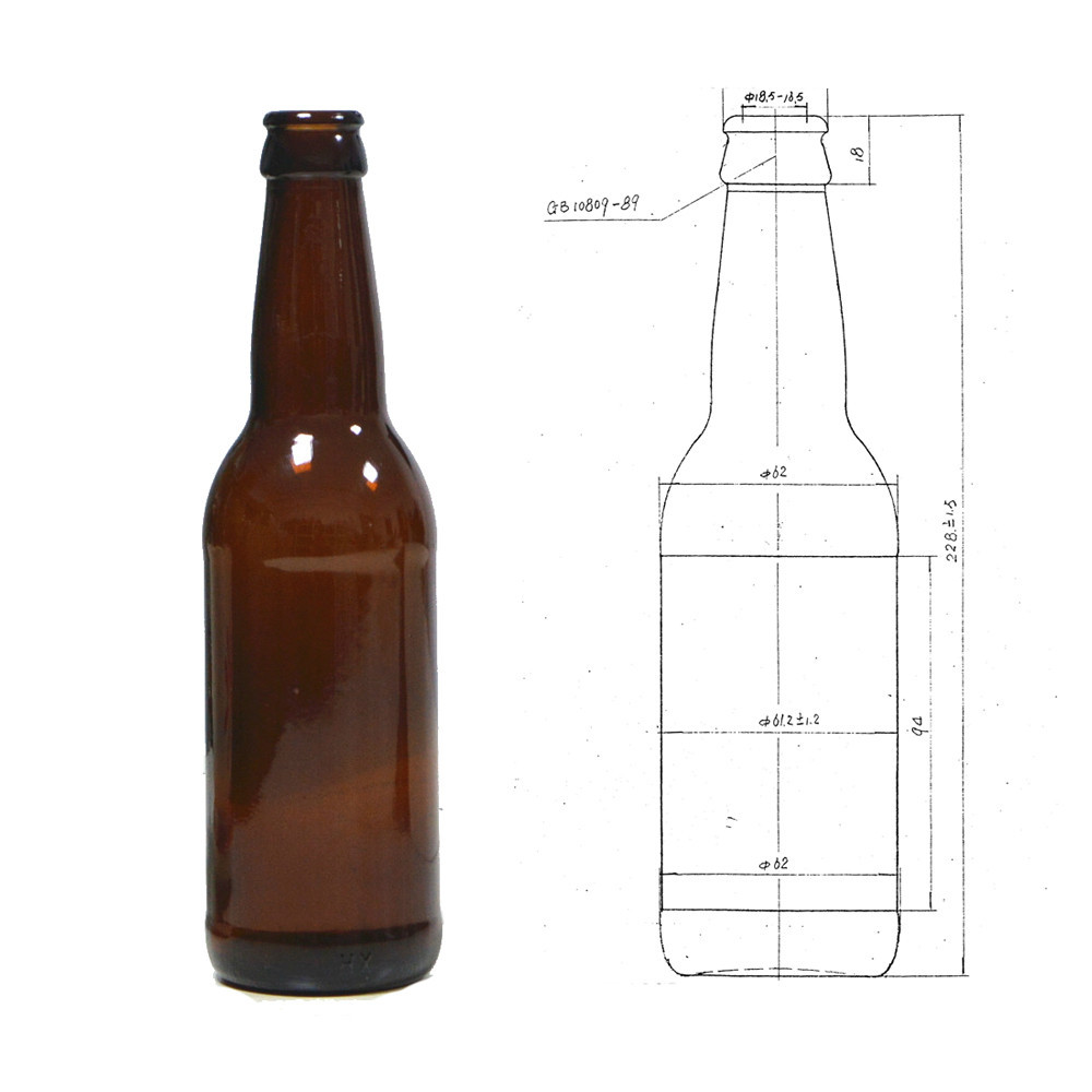 Wholesale China Supplier 330ml Crown Brown Empty Beer