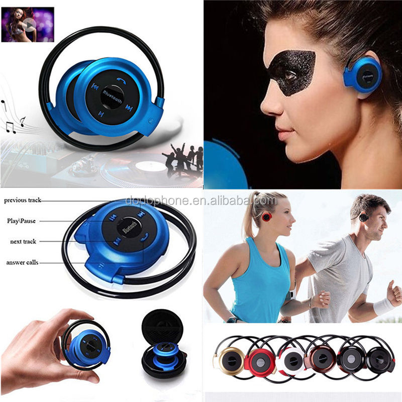 Mini 503 Headphone Music HIFI Bluetooth Stereo Headset Microphone Wireless Sport FM Radio Bluetooth Headset