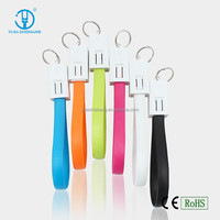 Hot Selling Keychain Data Cable Noodle Flat Micro USB Charger For Mobile Phone/ Power bank/ Tablet PC