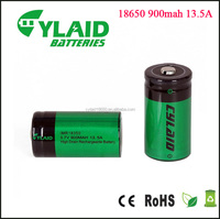 polymer battery Cylaid 3.7V 18350 900MAH 13.5A battery lithium rechargeable 18350battery wholesale factory price