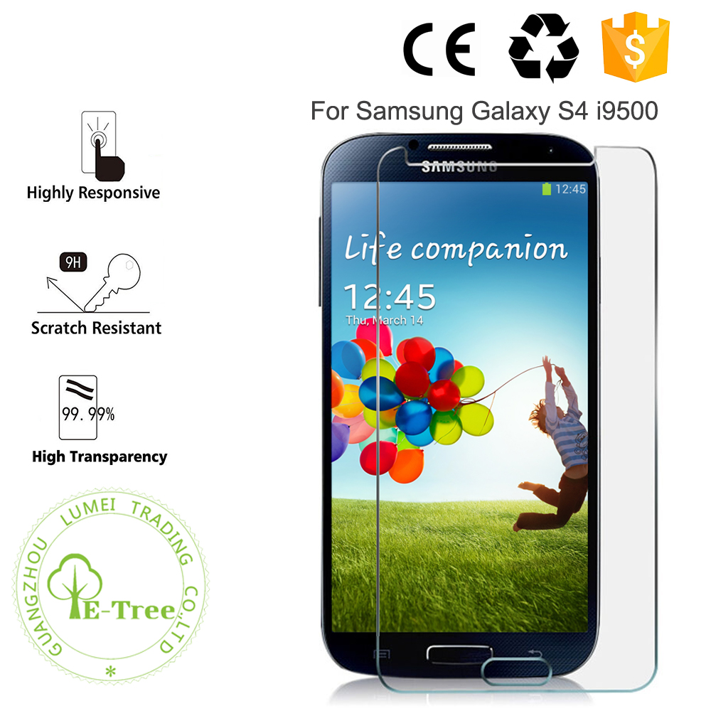 OEM Premium 0.3MM Tempered Glass LCD Touch Screen Protector For Samsung Galaxy S4 i9500