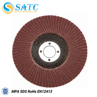 "2016 New 7""x7/8""Zirconia Oxide Flap Disc Type 27 Flat For Good Polishing/Grinding With the Best Quality"