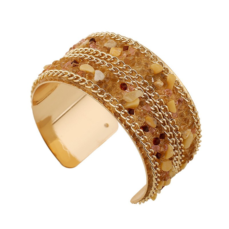 Adjustable High-grade New Bohemia Women Statement Arm Cuff Wide Bangle Bracelets