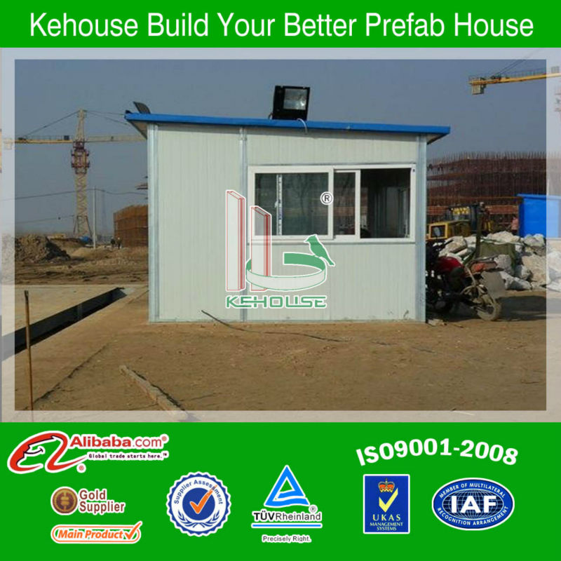 Cheap good fireproof&waterproof prefab kiosh homes for guard house uesd for/on site
