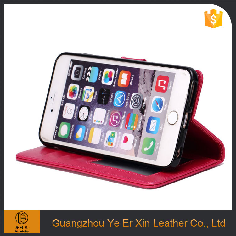 China manufacturer beautiful leather mobile phone back case cover for iphone 6/7 plus