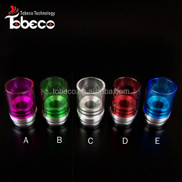 Tobeco new stainless+glass wide bore drip tips 22cm chuff enuff drip tops wholesale in stock