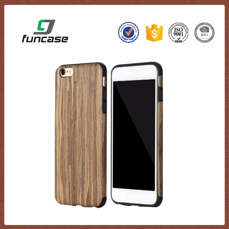 Newest style real wood phone case custom raised phone case for iphone6