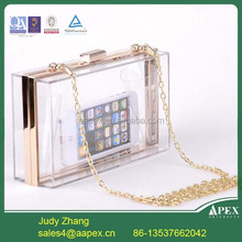 Apex acrylic evening clutch bags,plastic box clutch,hard shell evening clutch
