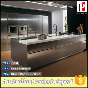 Modular stainless steel kitchen cabinet modular kitchen for Stainless steel modular kitchen designs