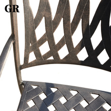 High End Cast Aluminum Garden Outdoor Furniture Dining Patio Chair