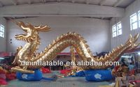 hot inflatable dragon, golden dragon balloon S2035