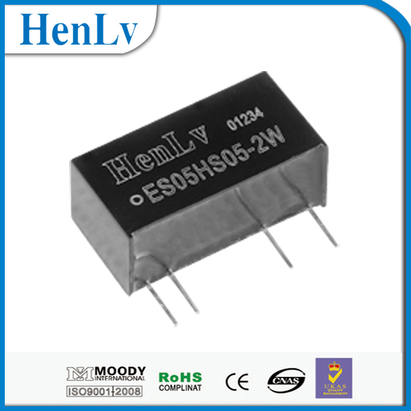 isolated dc dc converter 5VDC to 5VDC ES05HS05-2W 8Pin 4500V Isolation SIP