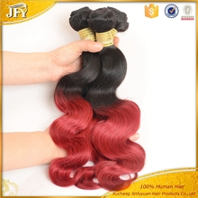 8-30 inch Fashionable Factory Price Red Color Indian Remy Human Hair Weaving, Wholesale 10 inch Indian Remy Human Hair