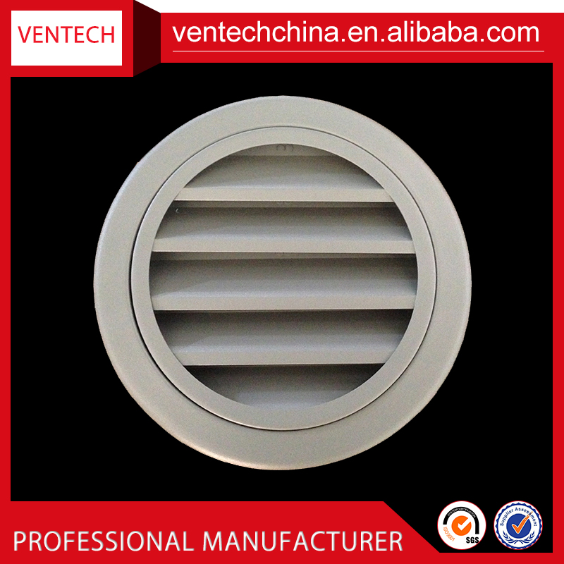 Hvac system weatherproof weather louver aluminium exhaust air grille
