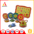 Hot item fruits printed tea set toy with cups and dishes