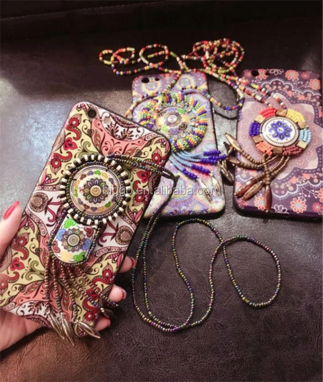 Boho Chic Retro Cell Phone Case For Iphone 7 7 plus Jewel Phone Case For Iphone 6 6 plus