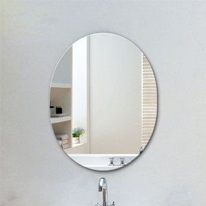 4mm 5mm 6mm oval shape wall mirror glass price per square meter