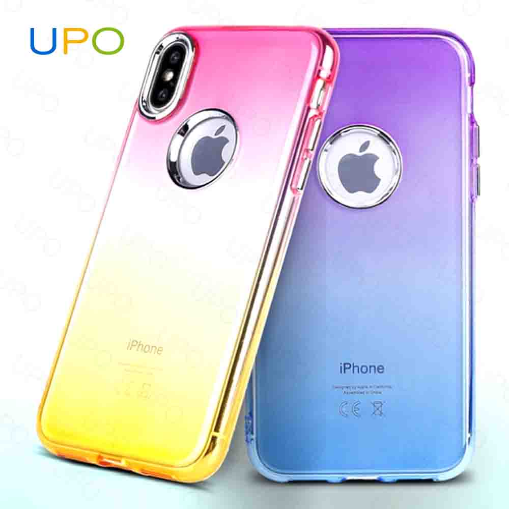[UPO] 2017 hot selling products in USA,Soft TPU Double color gradient mobile phone case for iphone X